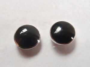 Very-Small-Black-Onyx-Circles-925-Sterling-Silver-Stud-Earrings