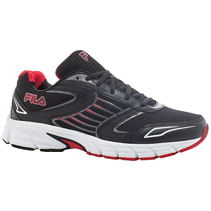 Men's Fila Dynamo Running Shoe Black/Red Comfortable Special limited time