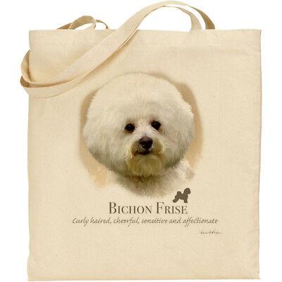 Maltese Dog Breed Howard Robinson reusable cotton shopping shoulder tote bag