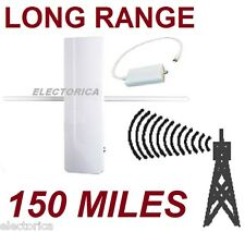 HIGH GAIN DIGITAL HD TV UHF VHF DTV OUTDOOR DTV ANTENNA +AMP OTA AIR INDOOR 150M