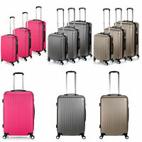 Unisex 3size Spinner Suitcase Abs Luggage Set Trolley Case Carry On Hand 6color