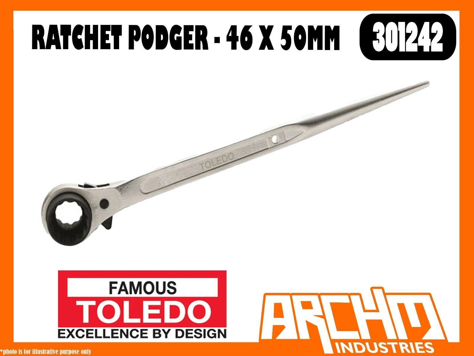 TOLEDO 301242 - RATCHET PODGER - 46 X 50MM - METRIC