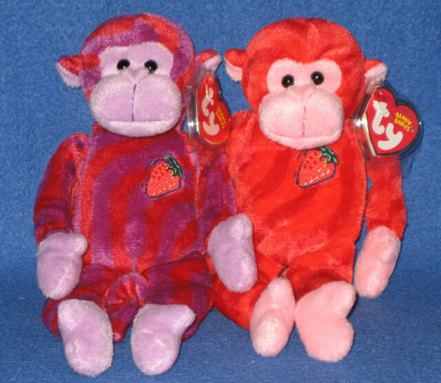 TY TWIRLY and TWISTY BEANIE BABIES WALGREENS EXCLUSIVE - MINT with MINT TAGS