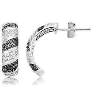 Black-Diamond-Accent-Crescent-Earrings