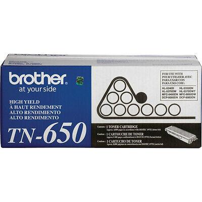 BROTHER TN-650 Black Toner Cartridge 8k Genuine OEM Original