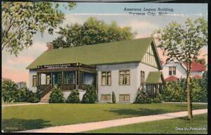 TRAVERSE-CITY-MI-American-Legion-Building-Vtg-Postcard