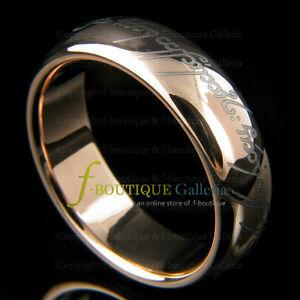 Tungsten Carbide Elvish Love Ring