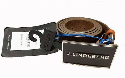 J.Lindeberg Brander Gloss Grain Leather Belt 22MG931488299//Size 90-Choose color!