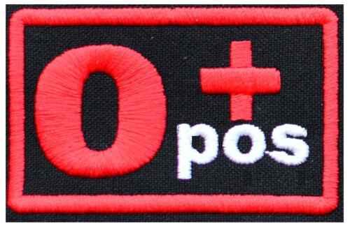 positive pos IRON ON PATCH Aufnäher Parche brodé patche toppa The blood group 0