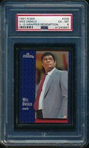 WES-UNSELD-1991-92-Fleer-3D-Acrylic-Wrapper-Redemption-209-PSA-6-EX-MINT-RARE