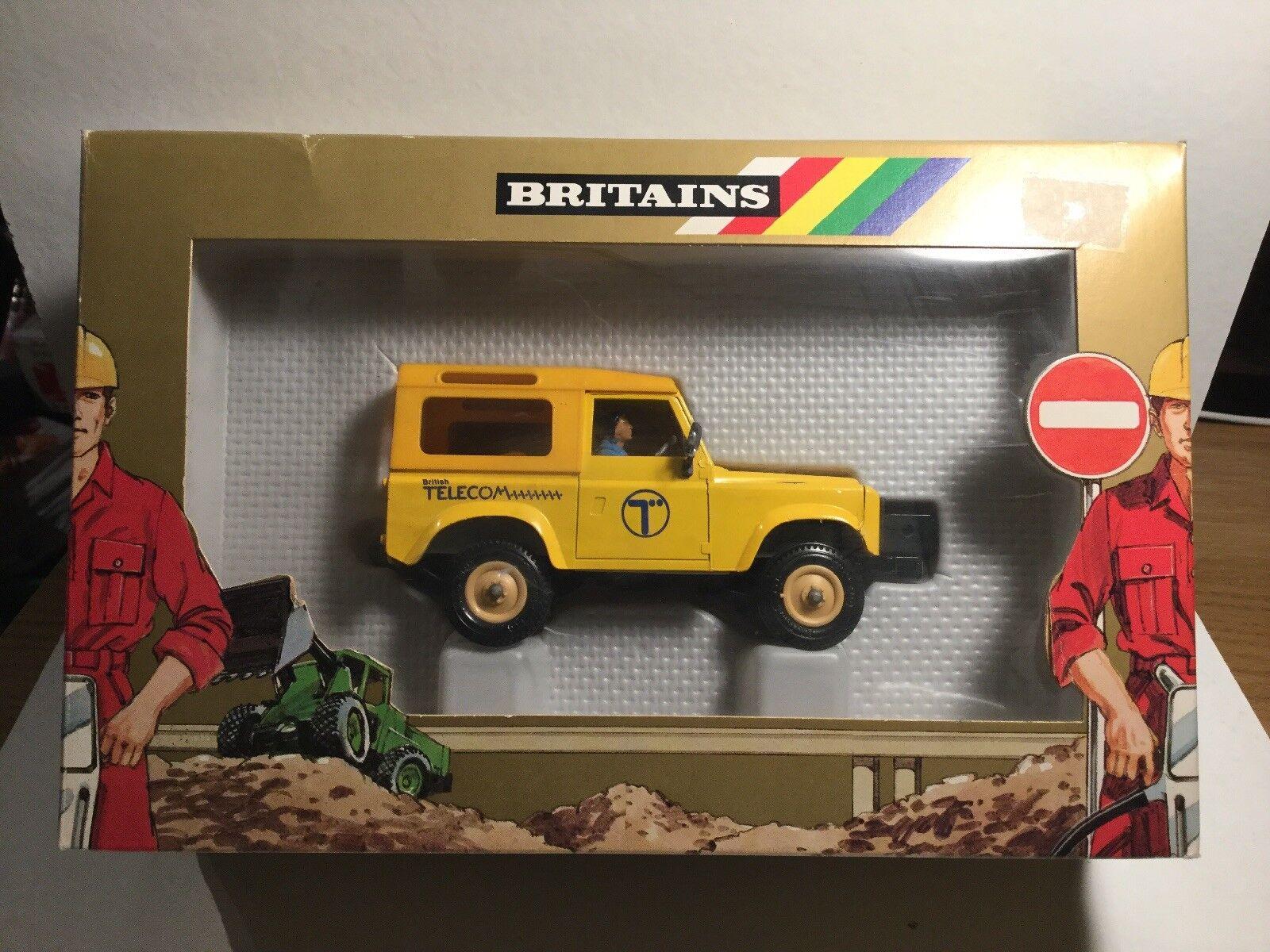 VINTAGE Britains 9923 Land Rover nella sua scatola originale