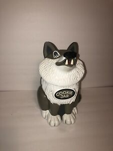 Howling-Wolf-Cookie-Jar-Fun-Damental-Too-LTD-1998-In-Working-Condition