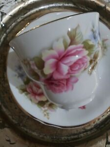 VTG-ARKLOW-Ireland-Bone-China-Large-Tea-Cup-And-Saucer-EXC
