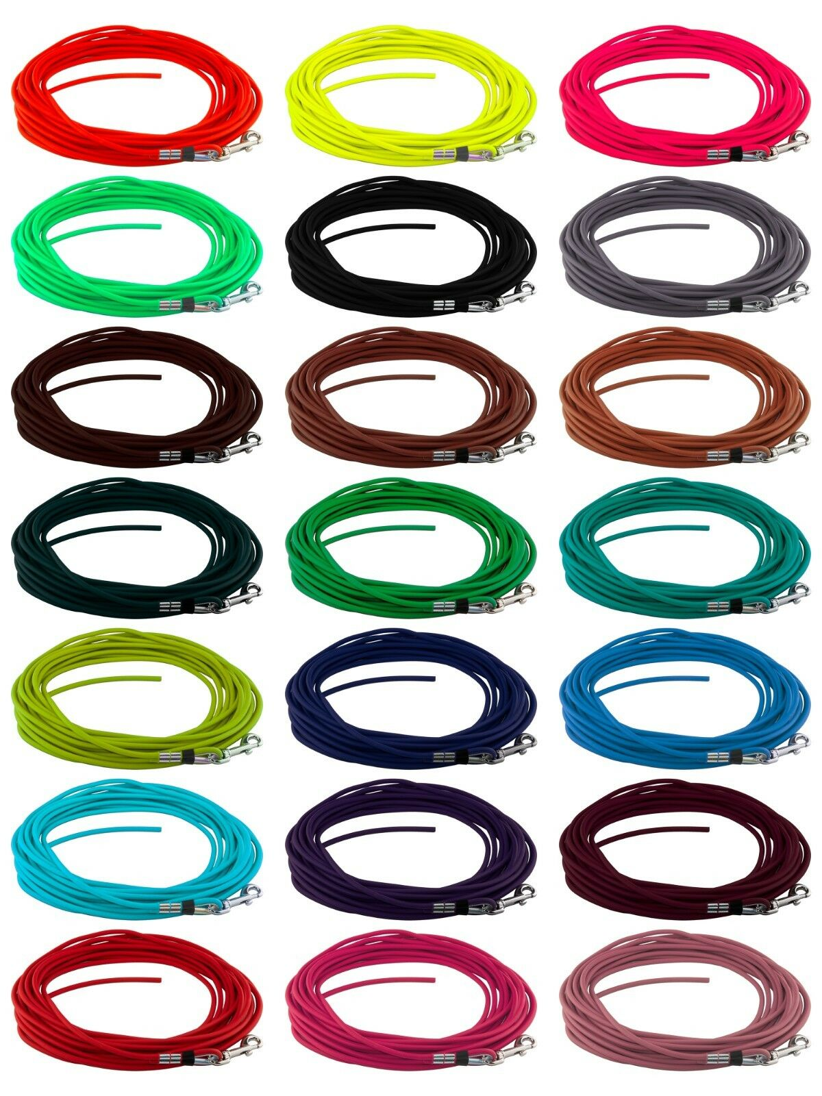 BioThane Schleppleine RUND 6mm,16 Farben,3-30m;Suchleine,Schwhiteleine,Hundeleine