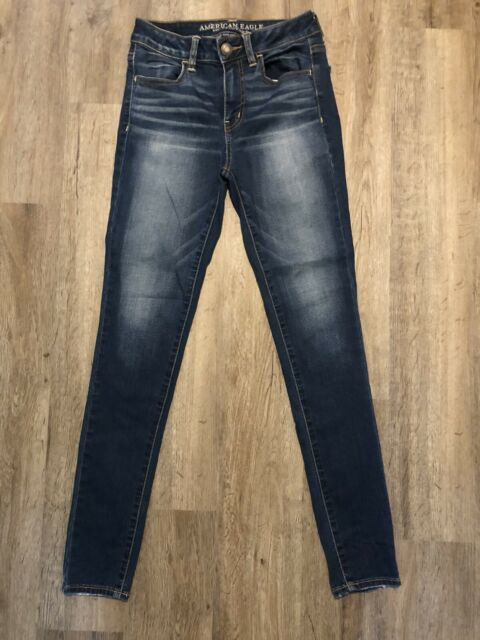 AMERICAN EAGLE Size 4 Women's SUPER STRETCH HI-RISE Jegging Jeans Blue