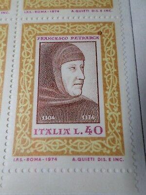 Prominenter' Neu EntrüCkung Italien 1974 Briefmarke 1188 Mnh In Vielen Stilen Petrarca