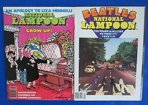 1977 National Lampoon Humor Magazine Lot Of 2 Sep Oct Fn Satire