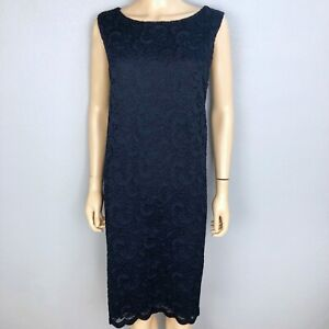 Details About Nwt Charter Club Navy Blue Lace Sheath Dress Womens 3x Sleevless Stretchy