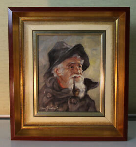 Hans münnich (1892-1970) staying OIL PAINTINGS Portrait Fischer