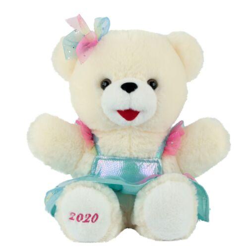 """12/"""" Small 2020 CHRISTMAS HOLIDAY TIME LITTLE SNOWFLAKE TEDDY BEAR Teal Girl"""