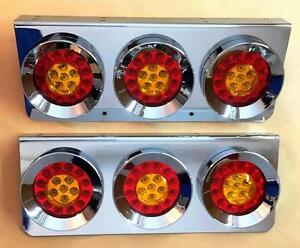 2x Ultra Thin LED Rear Tail Combination Round Lights 12//24V Lamps for Scania DAF
