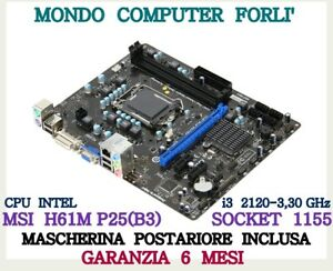 SCHEDA-MADRE-SOCKET-1155-MSI-H61M-P25-B3-CPU-i-3-2120-3-30-GHz-CD-DRIVER
