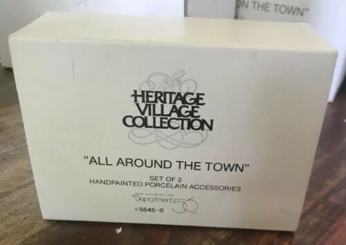 Dept 56 Accessories ~ Heritage Village All Around The Town Set of 2 in Box