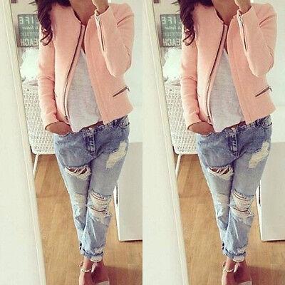 Chic Casual Slim Solid Suit Blazer Jacket Coat Outwear Women Fashion LCF