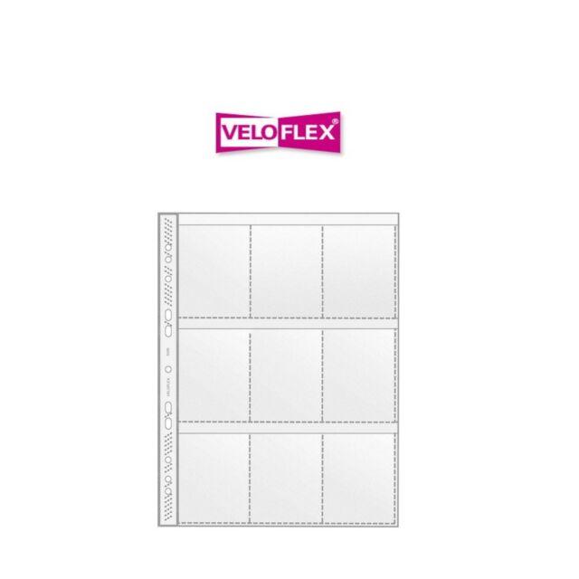 Pack 100 Stück Veloflex Sammelhülle A4 9-tlg 4000225534904 5349 000