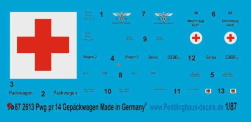 Peddinghaus 2613 1//87 bagagli carrello Pwg Pr 14 come bagaglio auto e carrello Pack Lazare