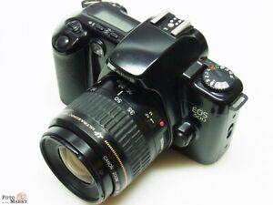 SET-Canon-EOS-500-SLR-Kamera-Objektiv-EF-35-80-USM-Zoom-Blitz-Exakta-260-AF
