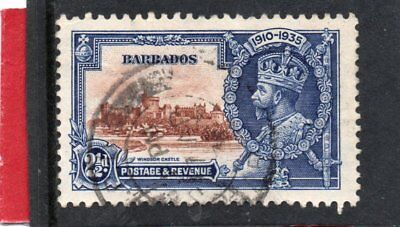 Stamps Caribbean Barbados Gv 1935 Silver Jubilee 2.1/2d Sg 243 Used Strong Resistance To Heat And Hard Wearing