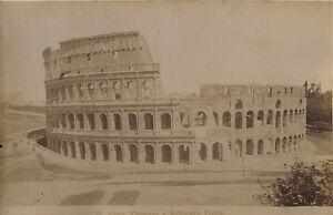 Roma il Colosseo Italia Foto Stampa Albume D'Uovo Ca 1880