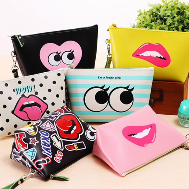 New Toiletry Holder Cosmetic Makeup Pouch Pencil Case Bag Purse Organizer Wallet