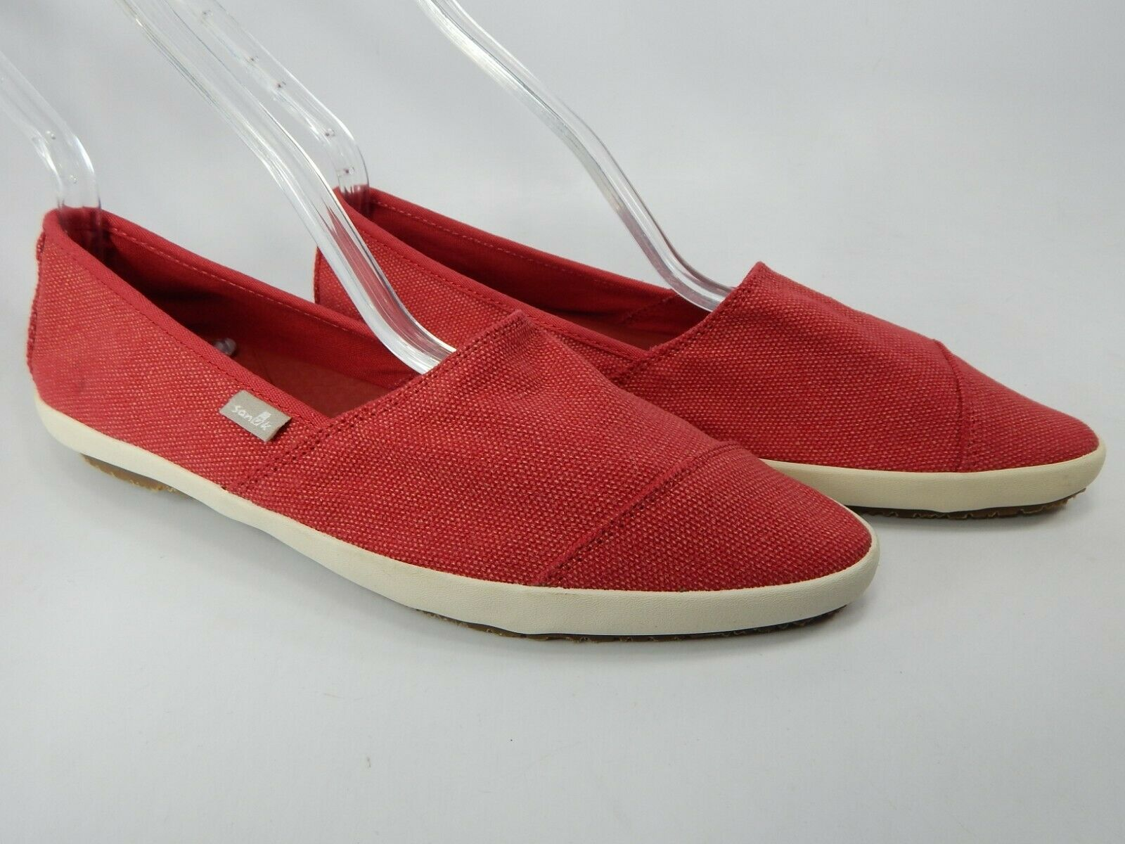 Sanuk Kats Meow Size US 7 M (B) Women's Pointed Toe Flats shoes Red