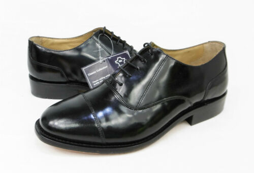 Lh57 Oxford Welted Goodyear Leather C4 Sole Kensington 6 Uk Black Shoes Capped 5qRxxP
