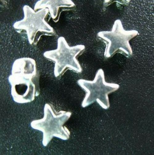500 PCS Tibetan Silver tiny star spacer beads 4mm FC218