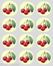 12 Ciliegia Design Stampato Decorazione Cupcake