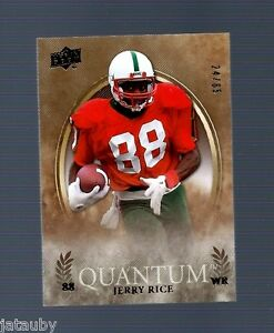 JERRY-RICE-2013-UD-QUANTUM-CARD-24-65-FOOTBALL-HALL-FAME-SF-49ers-Delta-Devils