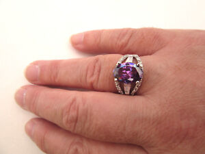 925-Sterling-Silver-Ring-With-Amethyst-And-White-Topaz-UK-P-1-2-US-8-rg1755