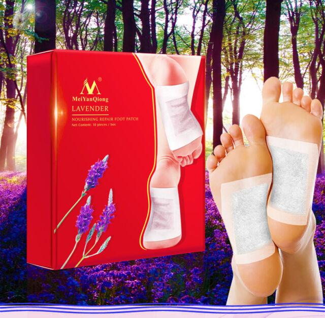 20pcs Lavender Detox Foot Patches Pads Nourishing Repair Foot Patch