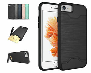 Case-for-Apple-IPHONE-8-4-7-034-Card-Compartment-Cover-Stand-Function-Hybrid-Bag