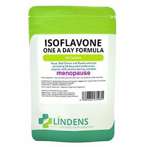 Soya-Isoflavone-Red-Clover-30-Tablets-Soy-Isoflavones-Kudzu-Extract-Safe-Natural