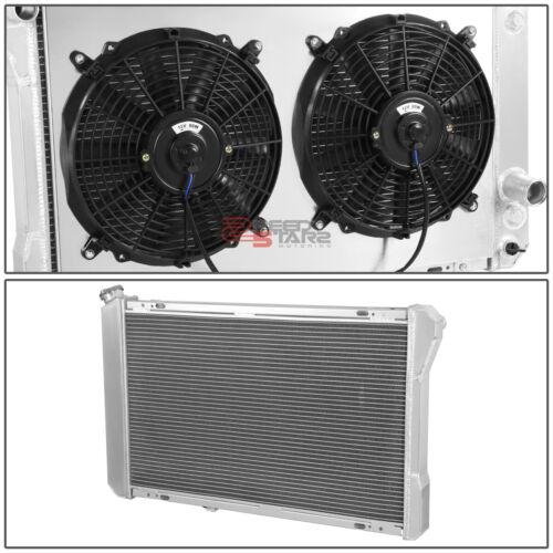 3-ROW FULL ALUMINUM RADIATOR+12V FAN SHROUD FOR 82-92 CAMARO//FIREBIRD//TANS AM V8
