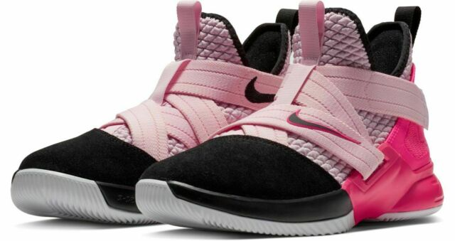 Nike Lebron Soldier 12 GS Basketball Size 7y Pink Rose ...