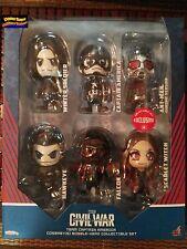 Hot Toys Captain America Civil War Cosbaby Exclusive Set Scarlet Ant Winter Hawk
