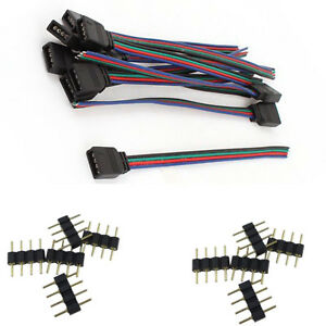 4 pin male connectors female wire cables for 3528 5050 rgb led rh ebay com
