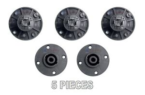 5-pcs-4-Pole-Pin-Locking-Speakon-Round-Chassis-Mount-Speaker-Pro-Audio-X-1092