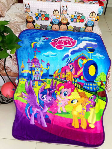 My Little Pony Kid/'s Blanket Soft Flannel Blanket Throw Winter Warm 140×100cm