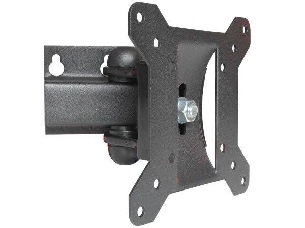 Soporte TV Pared Negro Inclinable Orientable Vesa 100 Montaje en LED LCD TFT